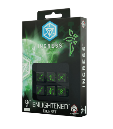 Ingress d6 Dice Set: Enlightened