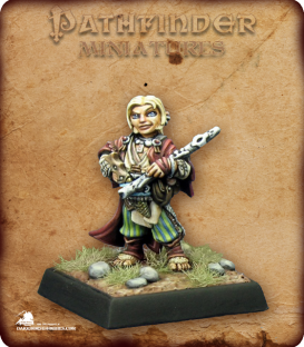 Pathfinder Miniatures: Lem, Iconic Halfling Bard (painted by Derek Schubert)