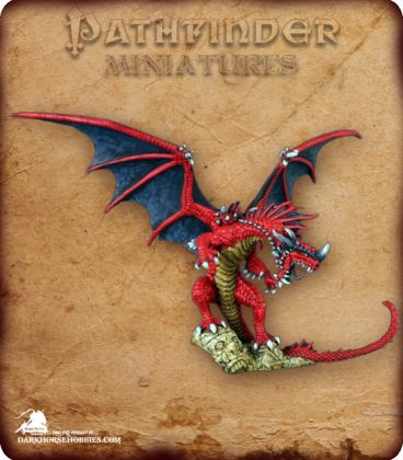 Pathfinder Miniatures: Red Dragon - Core Rulebook (painted by Anne Foerster)