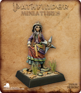 Pathfinder Miniatures: Koya Mvashti (painted by Derek Schubert)