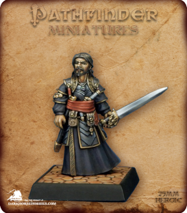 Pathfinder Miniatures: Salim Ghadafar (painted by Derek Schubert)