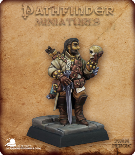 Pathfinder Miniatures: Mavaro, Iconic Occultist (painted by Rhonda Bender)