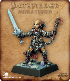 Pathfinder Miniatures: Koriah Azermen (painted by Derek Schubert)