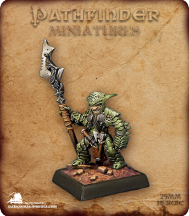 Pathfinder Miniatures: Staunton Vhane, Dwarf Anti-Paladin (painted by Derek Schubert)