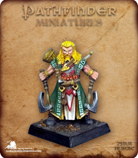 Pathfinder Miniatures: Hakon, Iconic Skald (painted by Arc 724)