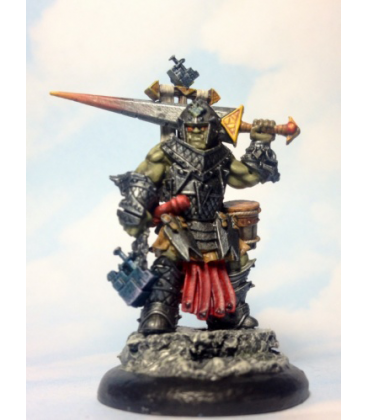 Pathfinder Miniatures: Oloch, Iconic Half-Orc Warpriest (painted by Limey 72)