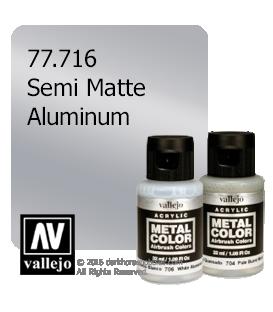 Vallejo Metal Color: Semi Matte Aluminum (32ml)