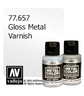 Vallejo Metal Color: Gloss Metal Varnish (32ml)