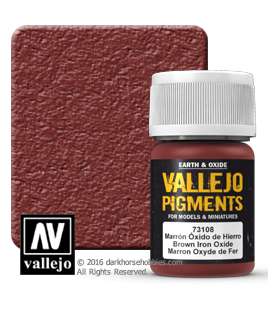 Vallejo Pigments: Brown Iron Oxide (35ml)