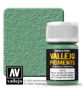 Vallejo Pigments: Chrome Oxide Green (35ml)