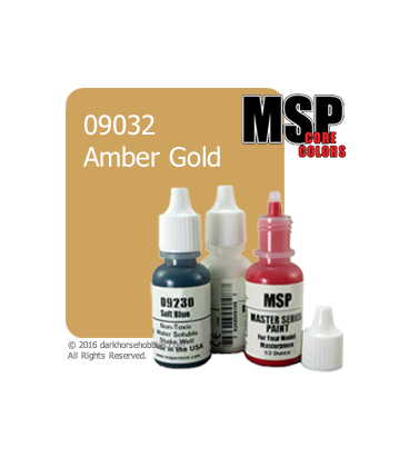 Master Series Paint: Core Colors - 09032 Amber Gold (1/2 oz)