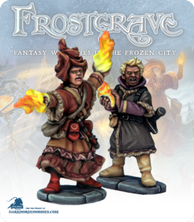 Frostgrave: Wizards - Elementalist & Apprentice