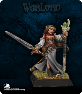 Warlord: Elves - Lysette, Elven Mage (painted by Liliana Troy)