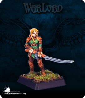 Warlord: Elves - Flara, Vale Swordsman Grunt (painted by John Bonnot)
