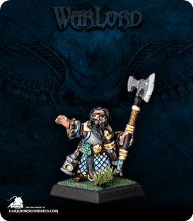 Warlord: Dwarves - Gilam, Dwarven Rune Spelunker (painted by Darren West)