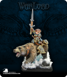 Warlord: Dwarves - Ursula, Dwarven Bear Rider Captain (painted by Adrift)