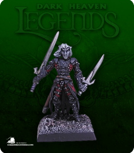Dark Heaven Legends: Torie Doman, Dark Elf (painted by Chambers of Miniatures)