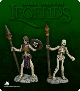 Dark Heaven Legends: Skelton Spearmen Pack (painted by Katie Sommer)