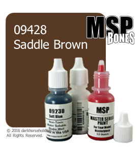 Master Series Paint: Bones Colors - 09428 Saddle Brown (1/2 oz)