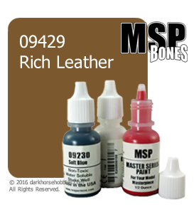 Master Series Paint: Bones Colors - 09429 Rich leather (1/2 oz)
