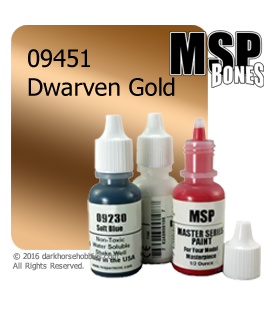 Master Series Paint: Bones Colors - 09451 Dwarven Gold (1/2 oz)