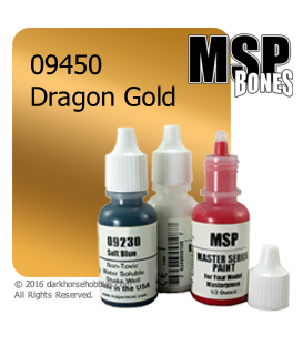 Master Series Paint: Bones Colors - 09450 Dragon Gold (1/2 oz)