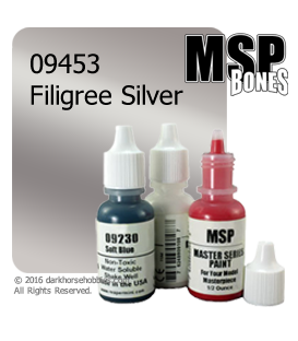 Master Series Paint: Bones Colors - 09453 Filigree Silver (1/2 oz)