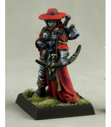 Pathfinder Miniatures: Imrijka, Iconic Half-Orc Inquisitor (painted by Nic Daniel)