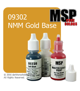 Master Series Paint: Core Colors - 09302 NMM Gold Base (1/2 oz)