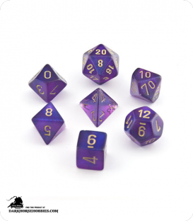 Chessex: Borealis Royal Purple/Gold Polyhedral dice set