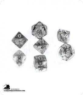 Chessex: Nebula Black/White Polyhedral dice set