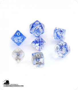 Chessex: Nebula Dark Blue/White Polyhedral dice set