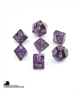 Chessex: Vortex Purple/Gold Polyhedral dice set