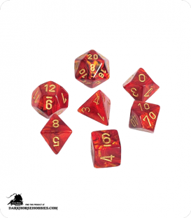 Chessex: Scarab Scarlet/Gold Polyhedral dice set