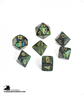 Chessex: Scarab Jade/Gold Polyhedral dice set