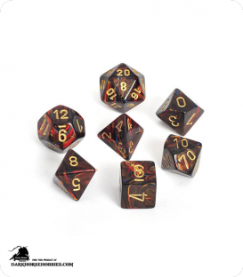 Chessex: Scarab Blue Blood/Gold Polyhedral dice set
