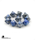 Chessex: Gemini Blue Steel/White d10 dice set (10)