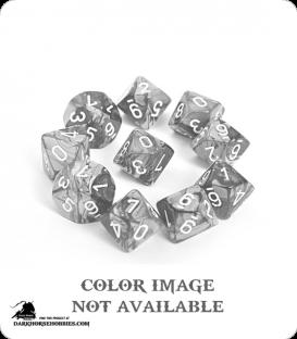 Chessex: Gemini Copper Steel/White d10 dice set