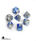 Chessex: Gemini Blue Steel/White Polyhedral dice set