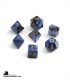 Chessex: Gemini Black Blue/Gold Polyhedral dice set (7)
