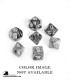 Chessex: Gemini Black Copper/White Polyhedral dice set (7)