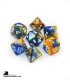 Chessex: Gemini Blue Gold/White Polyhedral dice set