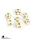 Chessex: Opaque Ivory/Black Polyhedral dice set (7)