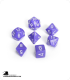Chessex: Opaque Purple/White Polyhedral dice set (7)