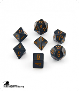 Chessex: Opaque Black/Gold Polyhedral dice set