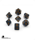Chessex: Opaque Black/Gold Polyhedral dice set (7)