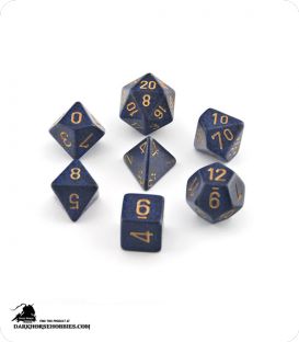 Chessex: Speckled Golden Cobalt Polyhedral dice set