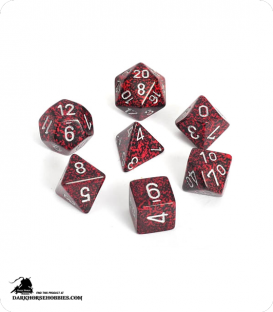 Chessex: Speckled Silver Volcano Polyhedral dice set