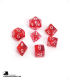 Chessex: Translucent Red/White Polyhedral dice set (7)