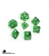 Chessex: Translucent Green/White Polyhedral dice set (7)